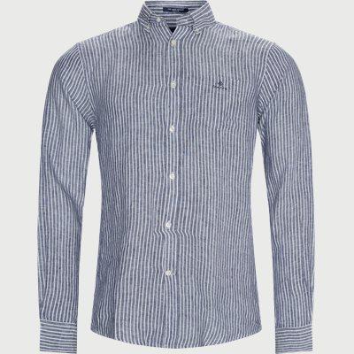 The Linen Stripe Shirt Regular | The Linen Stripe Shirt | Blå