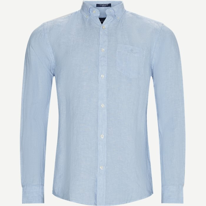 The Linen Shirt - Skjorter - Regular - Blå