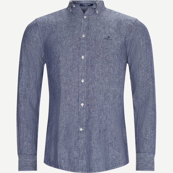 The Linen Shirt - Skjorter - Regular - Denim