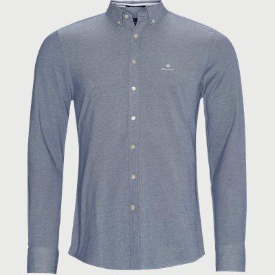 Pique Solid Slim Shirt Slim | Pique Solid Slim Shirt | Blå