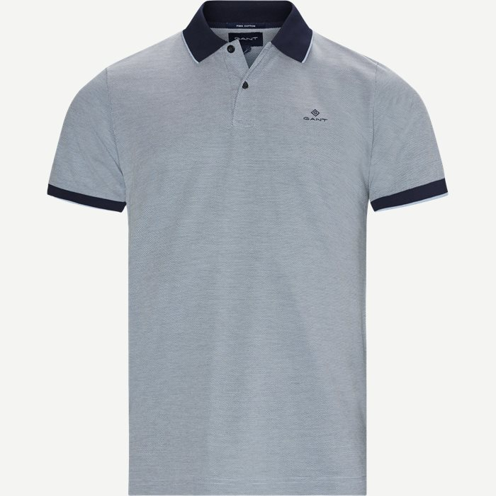 Oxford Pique Rugger Polo T-shirt - T-shirts - Regular - Blå