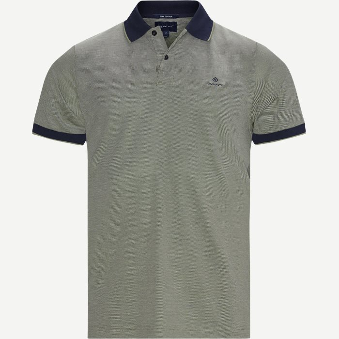 Oxford Pique Rugger Polo T-shirt - T-shirts - Regular - Grøn
