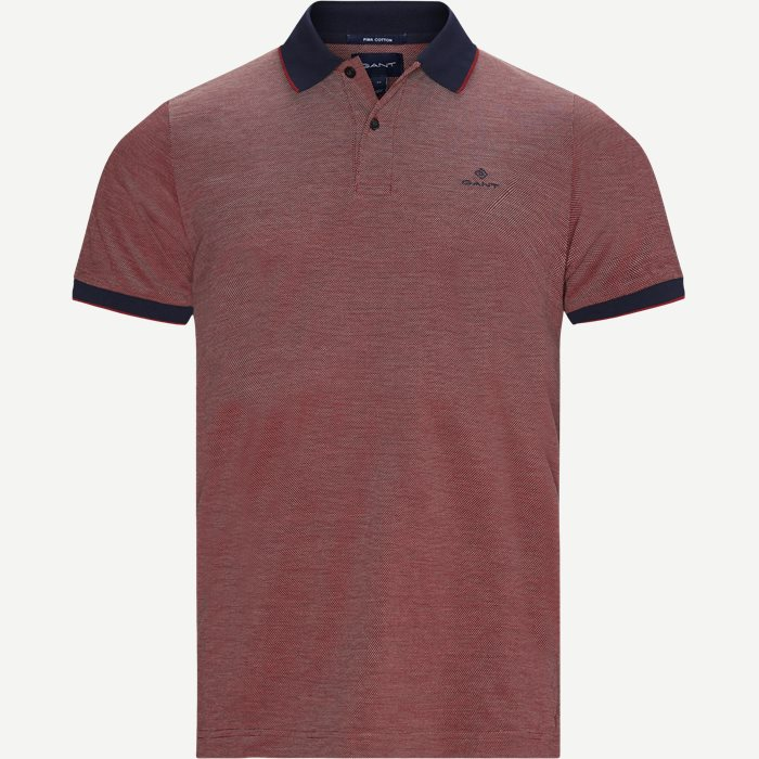 Oxford Pique Rugger Polo T-shirt - T-shirts - Regular - Rød
