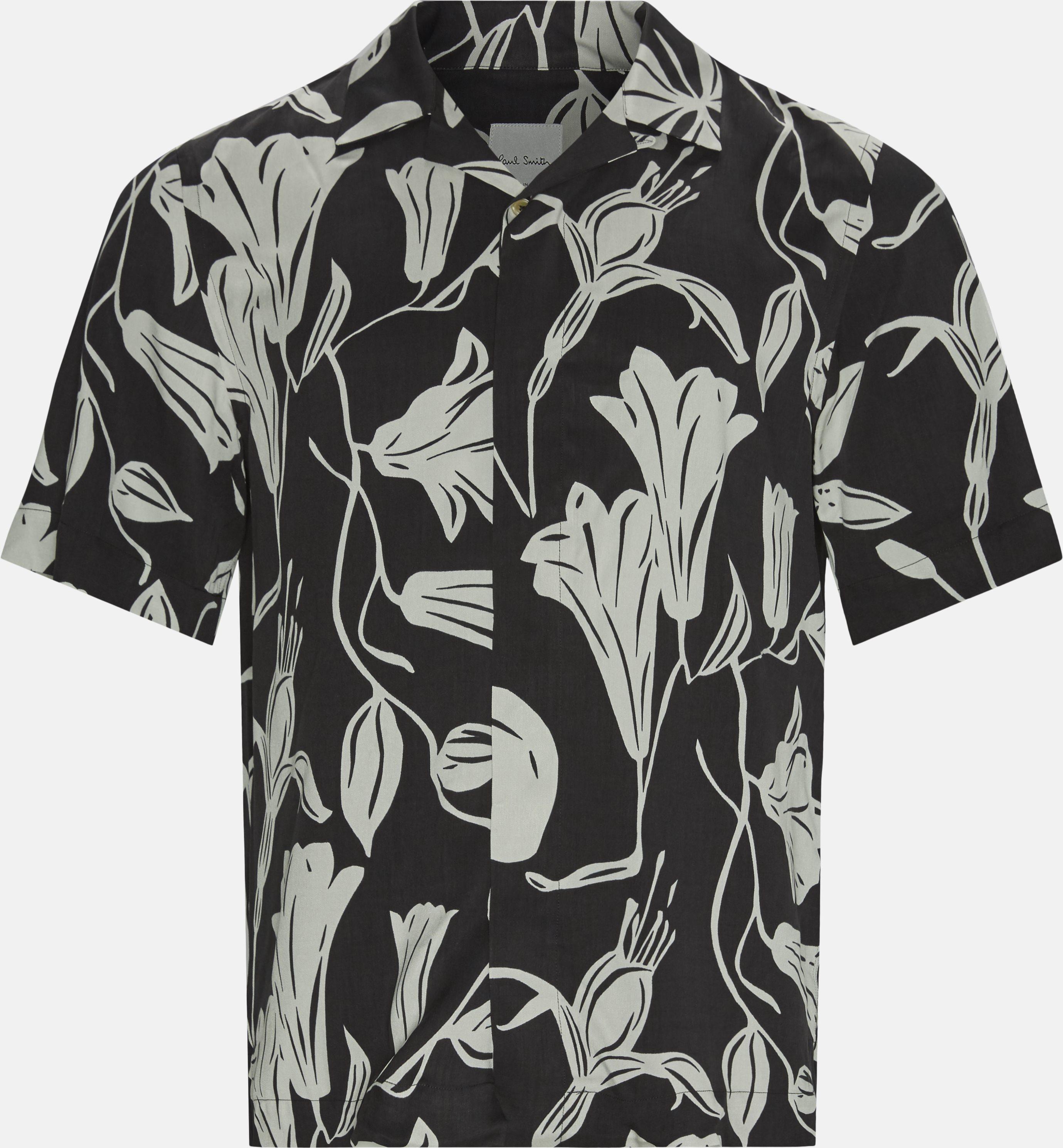 Printede skjorter - Regular fit - Sort