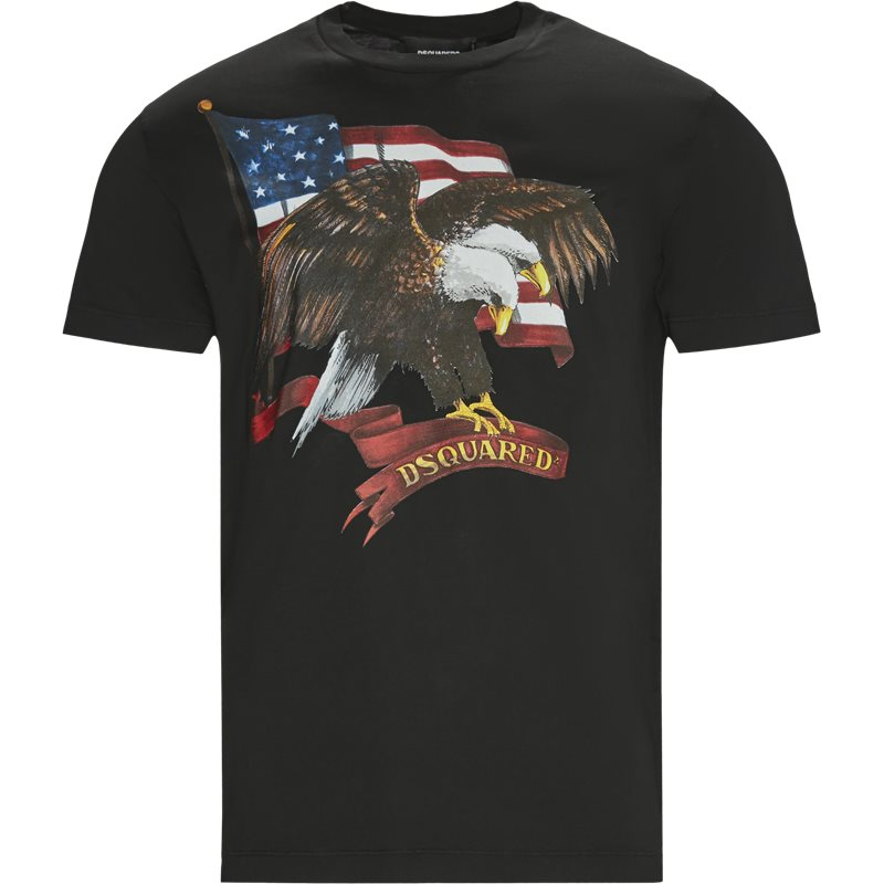 Billede af Dsquared2 Regular fit S22427 S79GC0004 T-shirts Sort