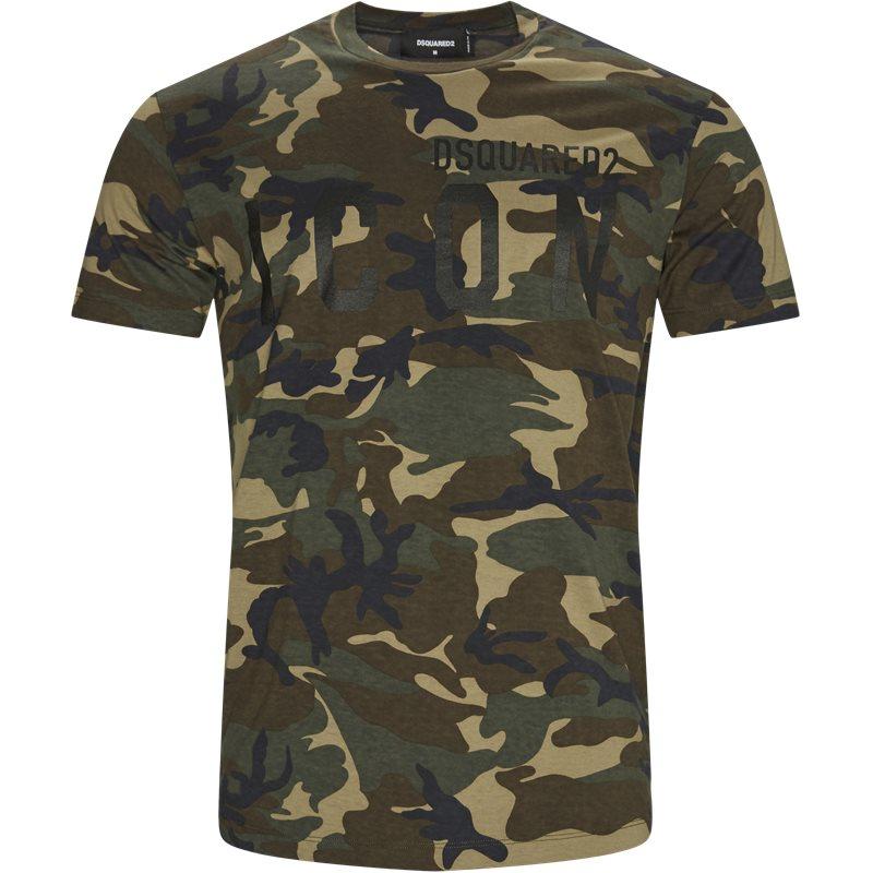 Billede af Dsquared2 Regular fit S23723 S79GC0009 T-shirts Camo