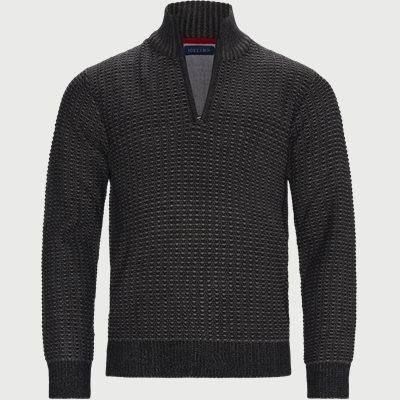 Laki Half-Zip Sweater Regular | Laki Half-Zip Sweater | Sort