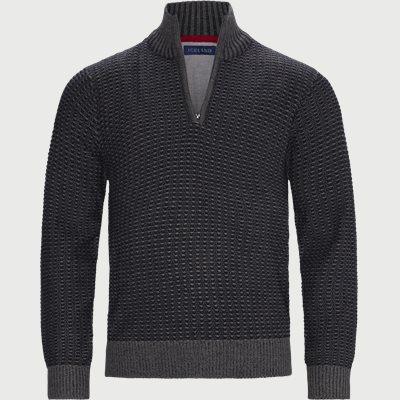 Laki Half-Zip Sweater Regular | Laki Half-Zip Sweater | Grå