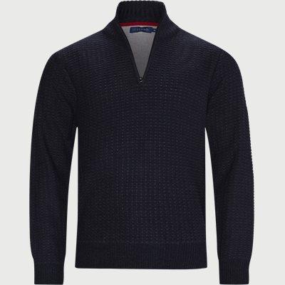 Laki Half-Zip Sweater Regular | Laki Half-Zip Sweater | Blå