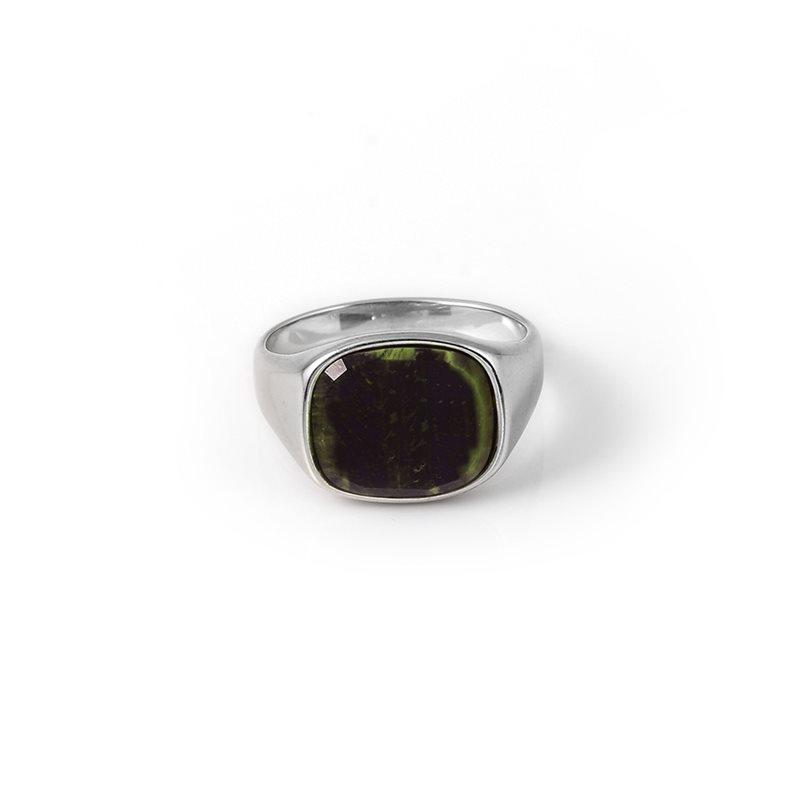 A.kjærbede Square Ring Sølv