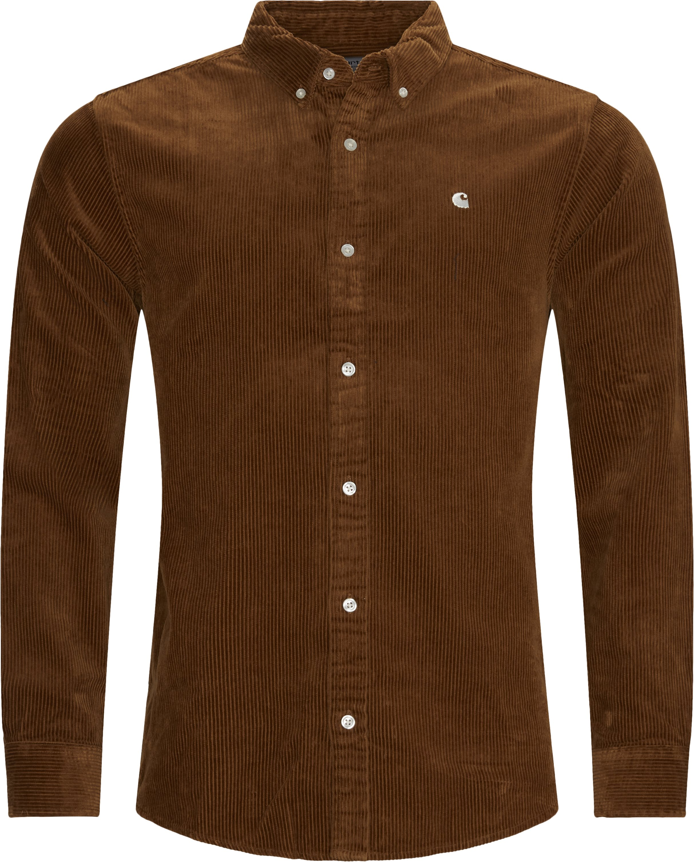 L/S Madison Cord Shirt - Skjortor - Regular - Brun