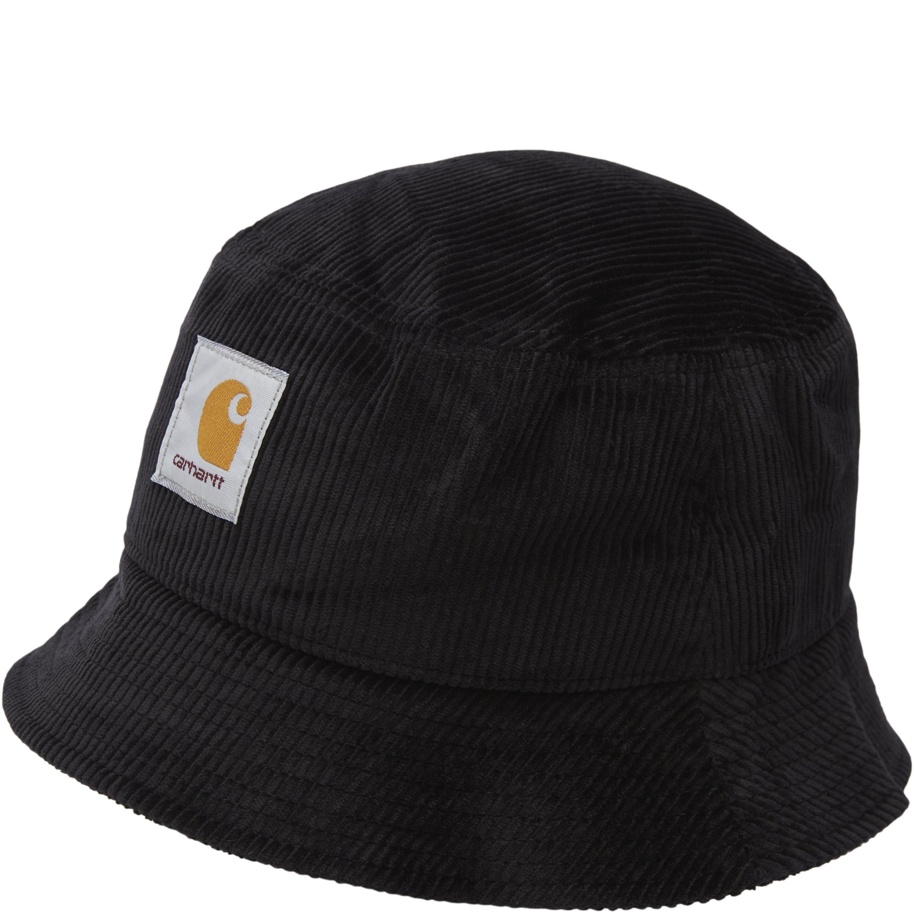 Cord Bucket Hat - Caps - Black