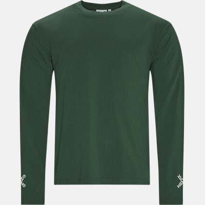Regular fit | Langærmede t-shirts | Grøn