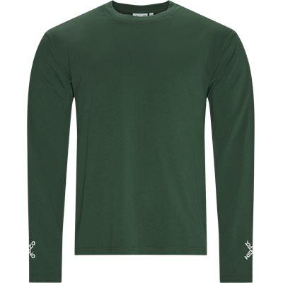 Regular fit | Langærmede t-shirts | Grøn