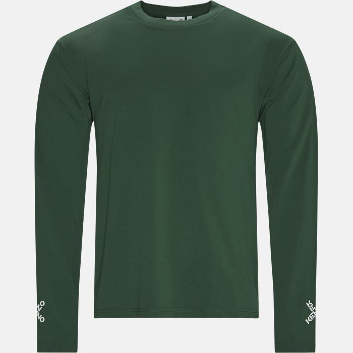 Langærmede t-shirts - Regular fit - Grøn