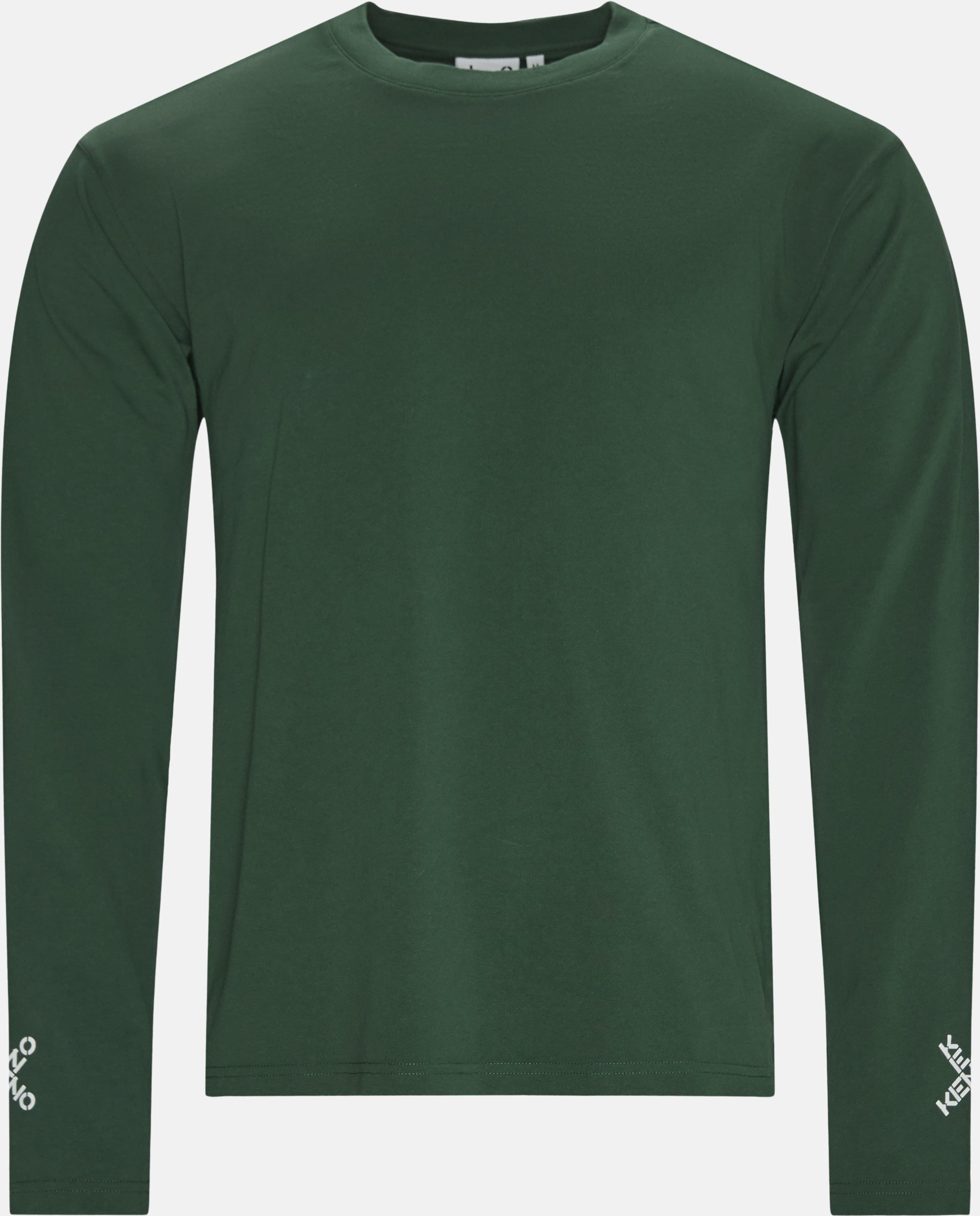 Langærmede t-shirts - Regular fit - Grøn