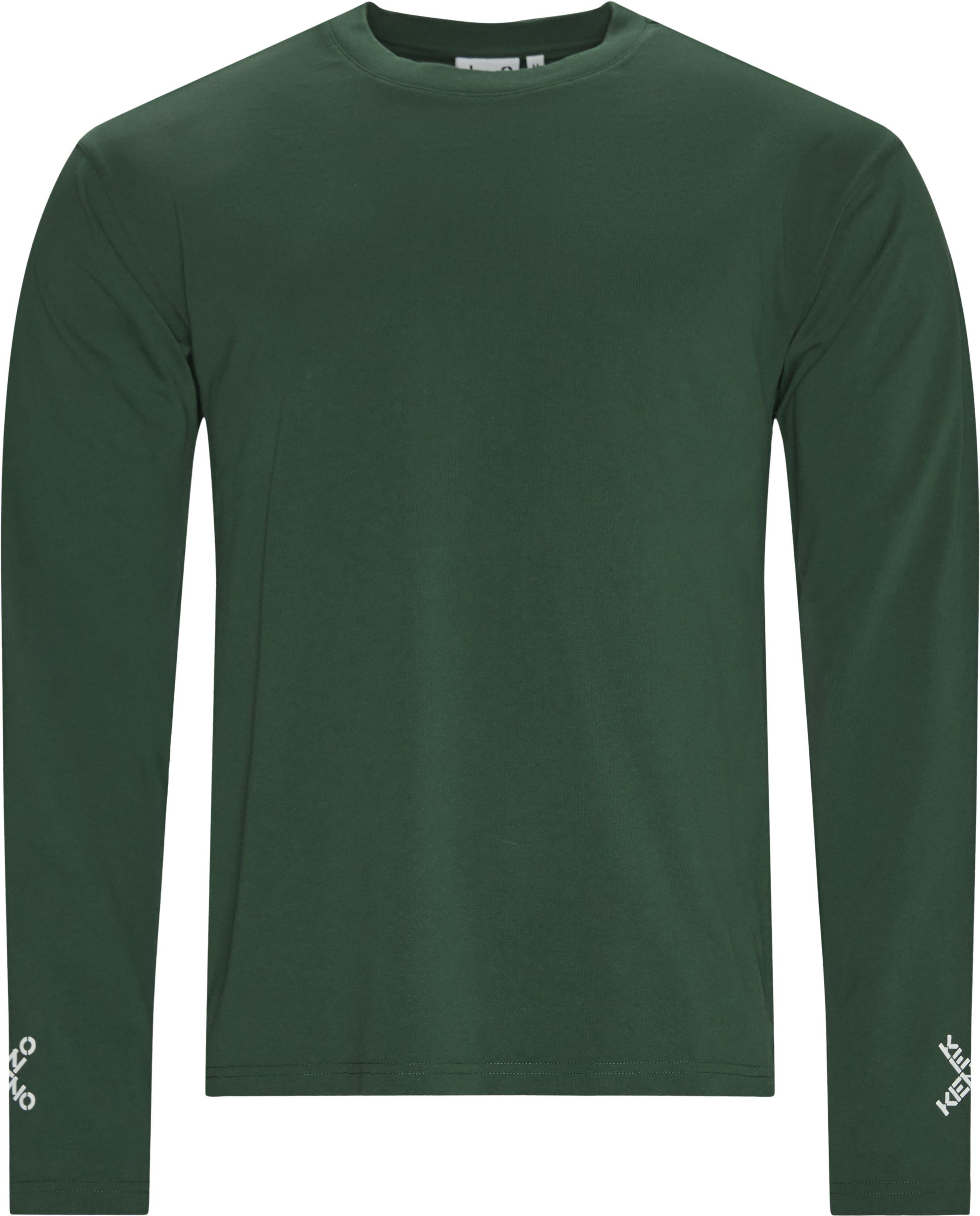 Long-sleeved t-shirts - Regular fit - Green