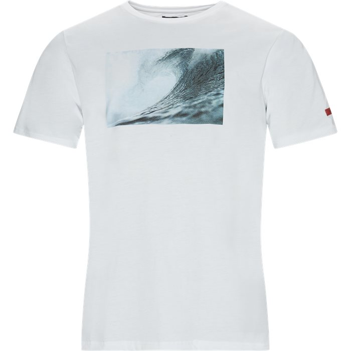 Wave Tee - T-shirts - Regular - Hvid