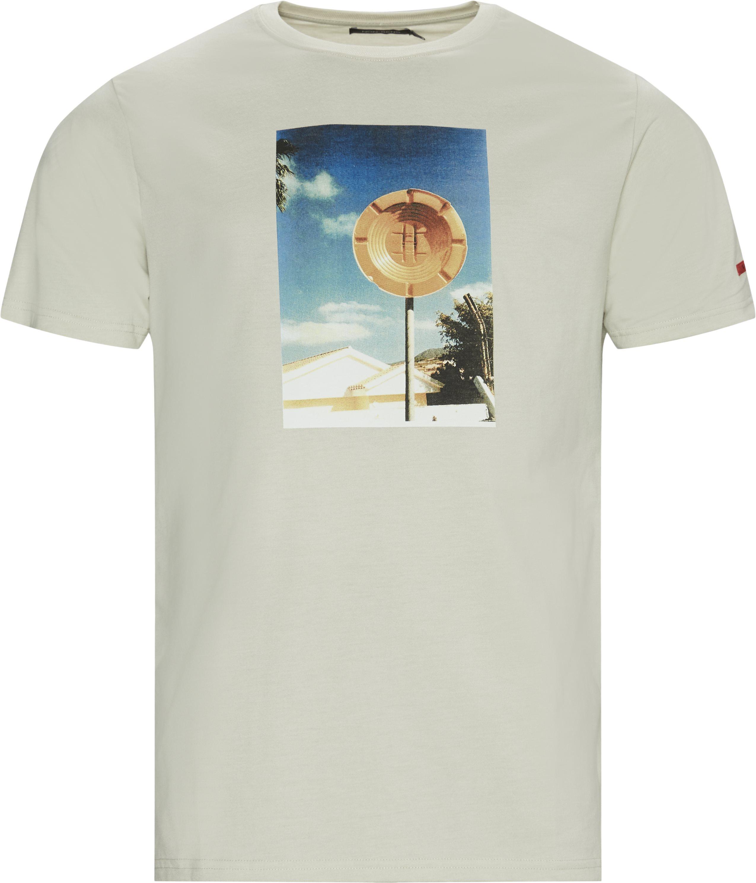 Parking Tee - T-shirts - Regular fit - Sand