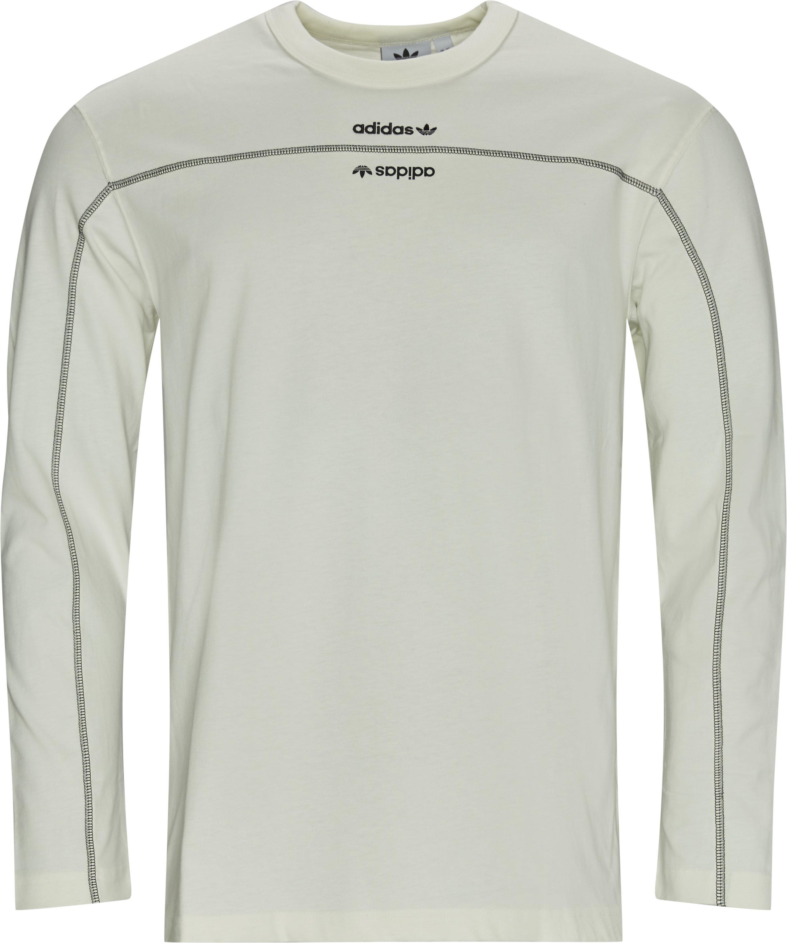 F LS Langærmet T-shirt - T-shirts - Regular - Hvid