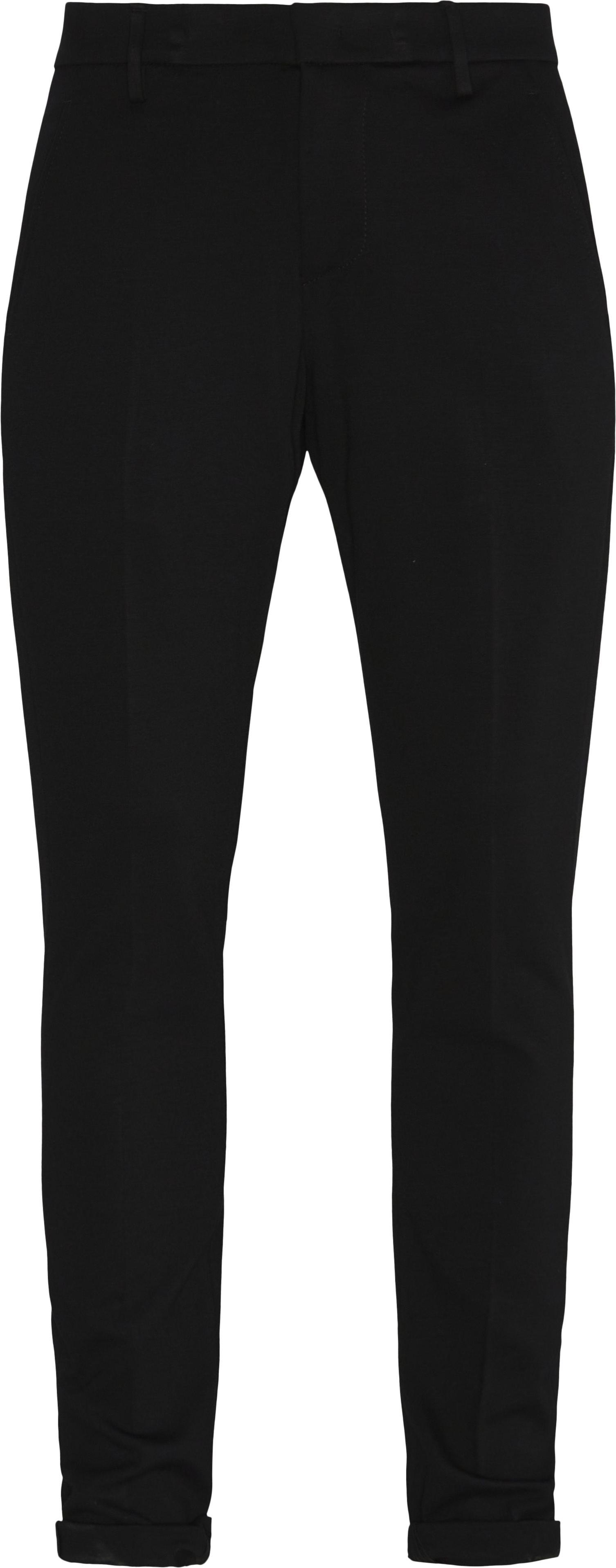 Trousers - Slim fit - Black