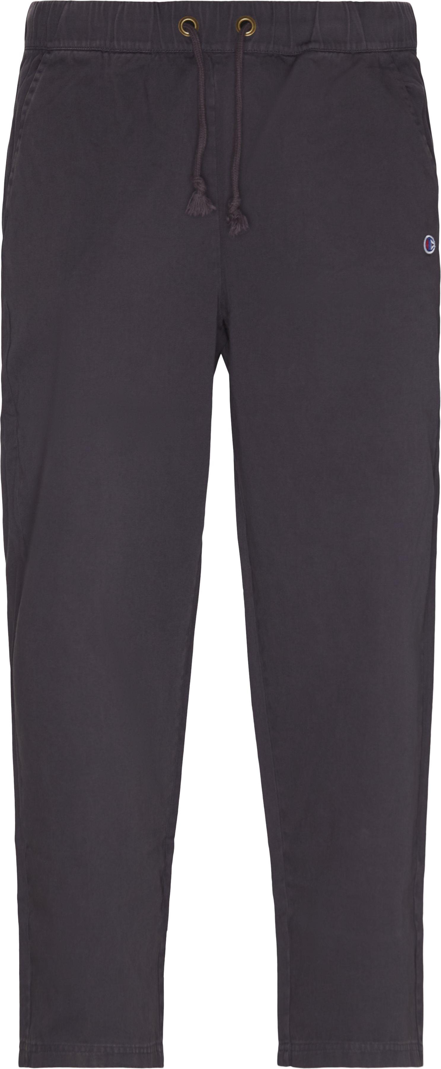 Logo Comfort Pant - Trousers - Loose fit - Grey