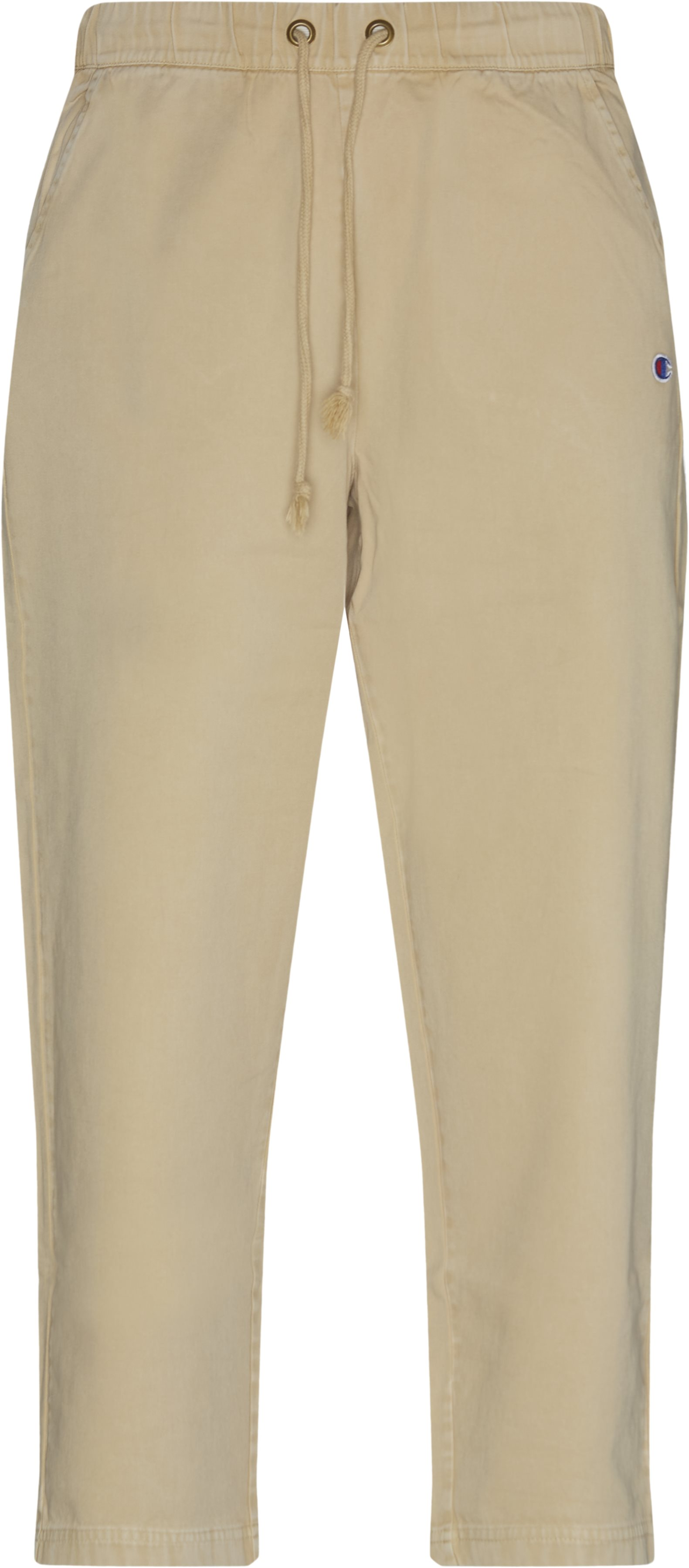 Logo Comfort Pant - Trousers - Loose fit - Sand