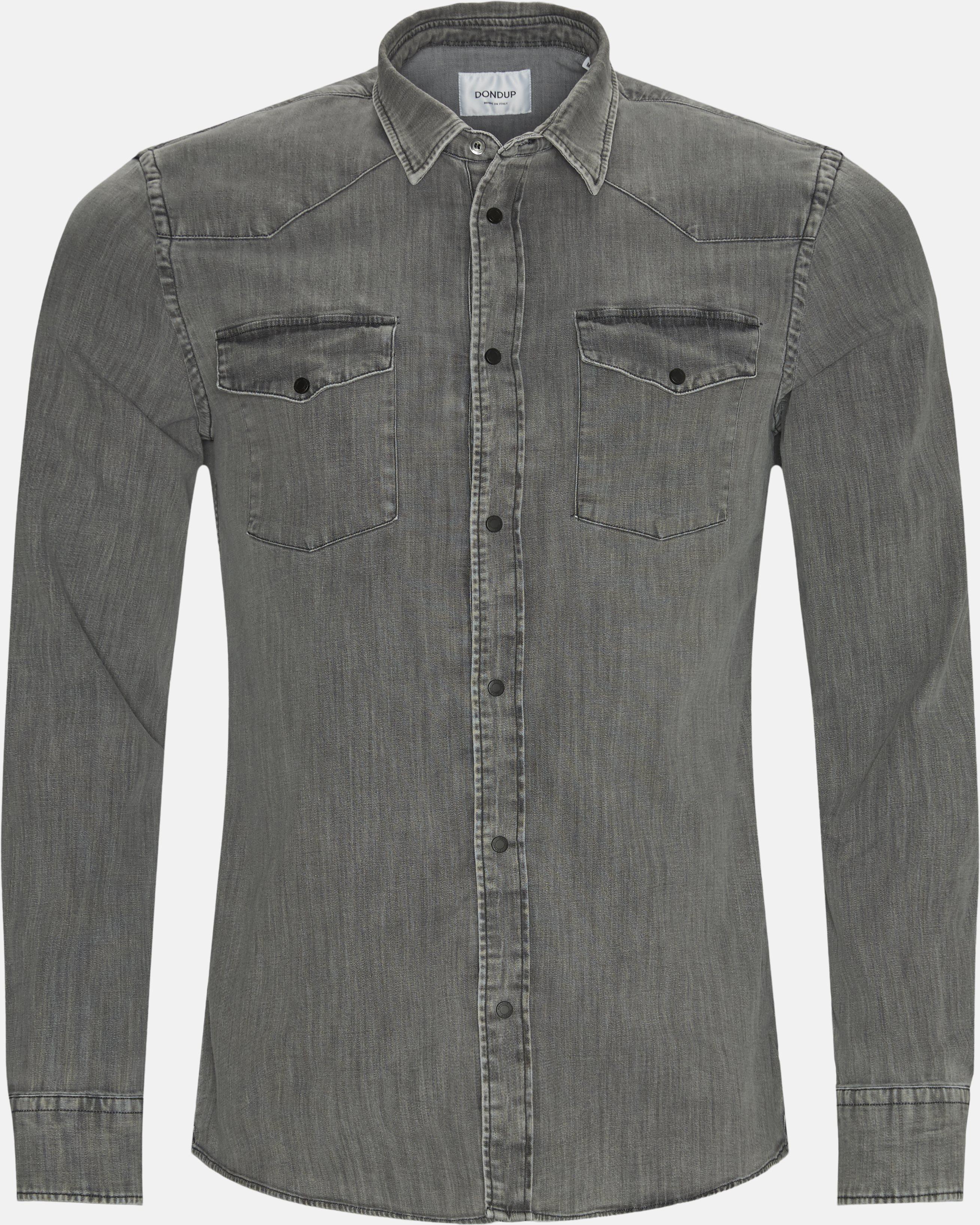 Denim skjorte - Skjorter - Regular fit - Grå