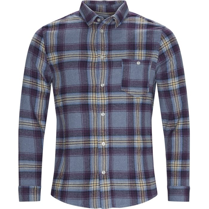 Odessa Check Shirt - Hoodies - Regular - Lilla