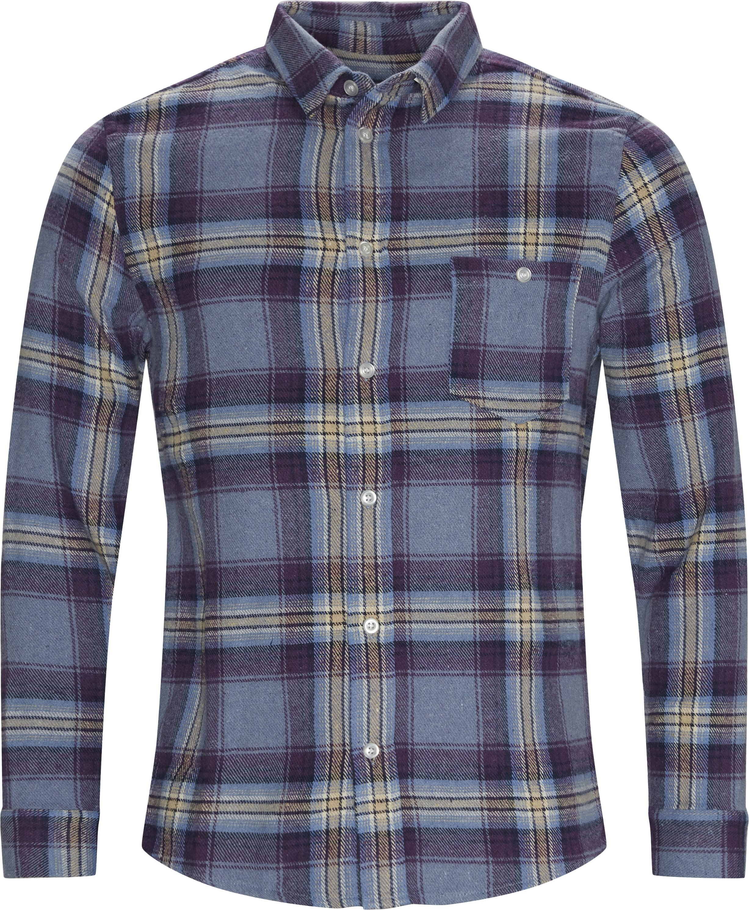 Odessa Check Shirt - Huvtröjor - Regular - Lila