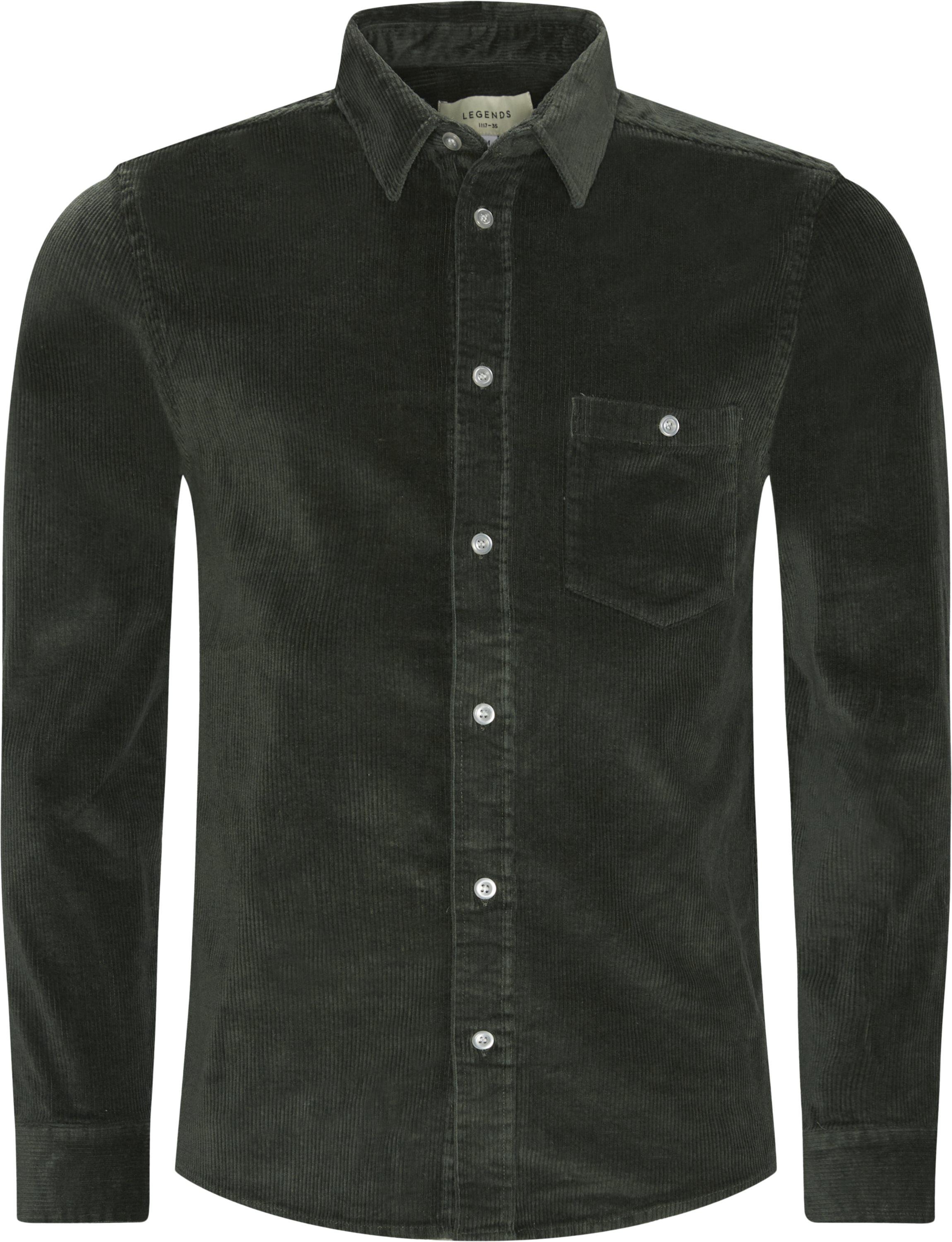Odessa Corduroy Shirt - Skjortor - Regular - Armé