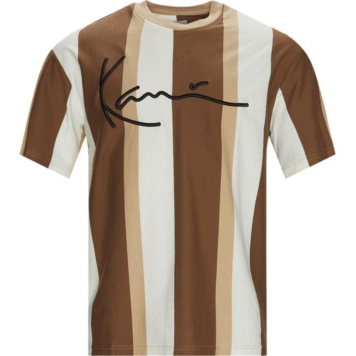 SIGNATURE STRIPE Tee - T-shirts - Sand