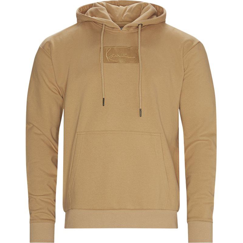 karl kani Karl kani small singature box hoodie kkmq32039 sweatshirts sand på quint.dk