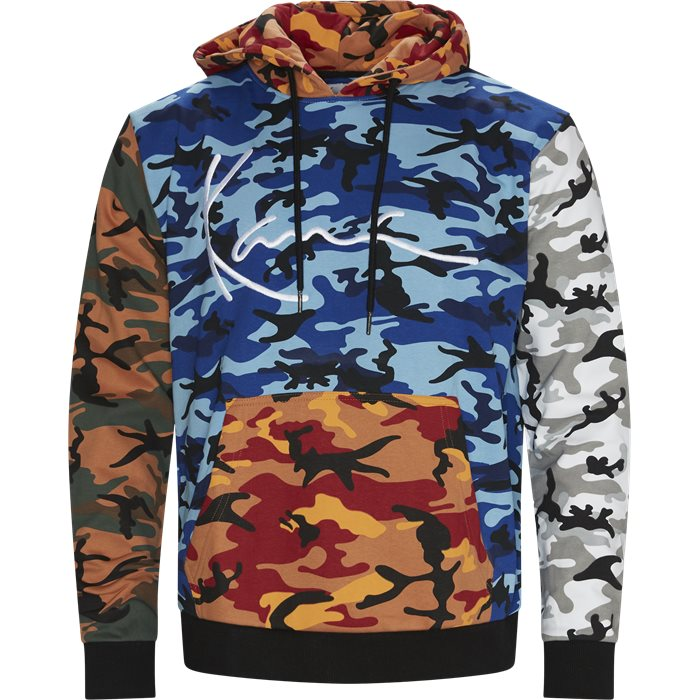 Signature Block Camo Hoodie - Sweatshirts - Regular - Black