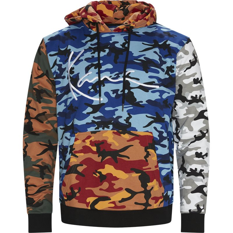 Karl kani signature block camo hoodie kkmq32042 sweatshirts sort fra karl kani fra quint.dk
