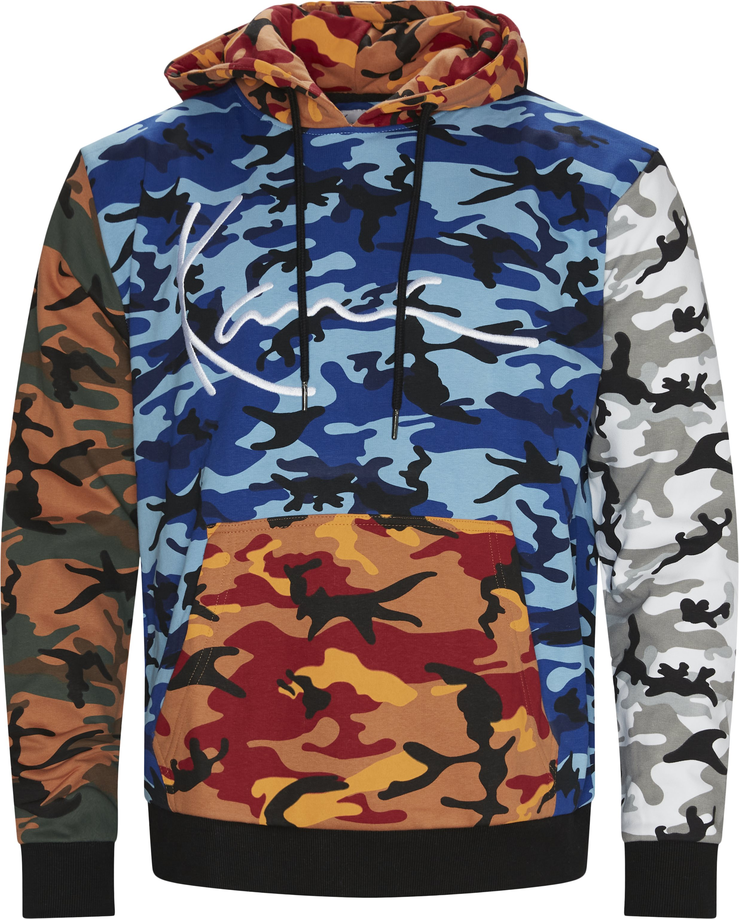 Signature Block Camo Hoodie - Sweatshirts - Regular - Svart