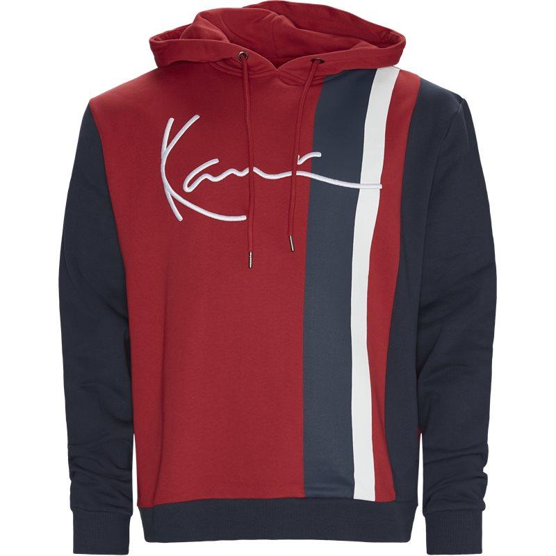 Karl kani signature block hoodie rød fra karl kani fra quint.dk
