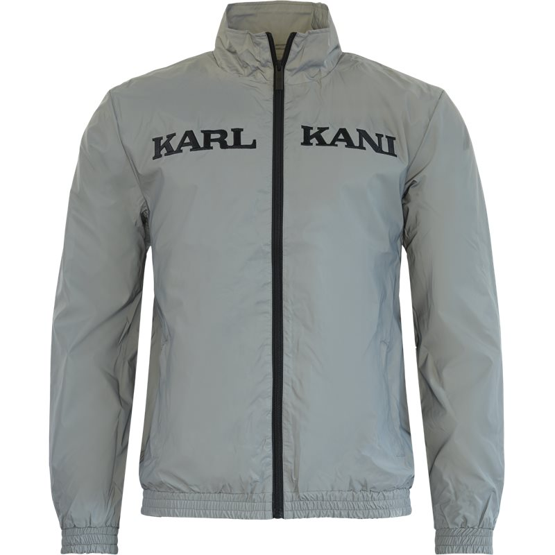 karl kani Karl kani retro reflective trackjacket kkmq32026 sweatshirts sølv på quint.dk