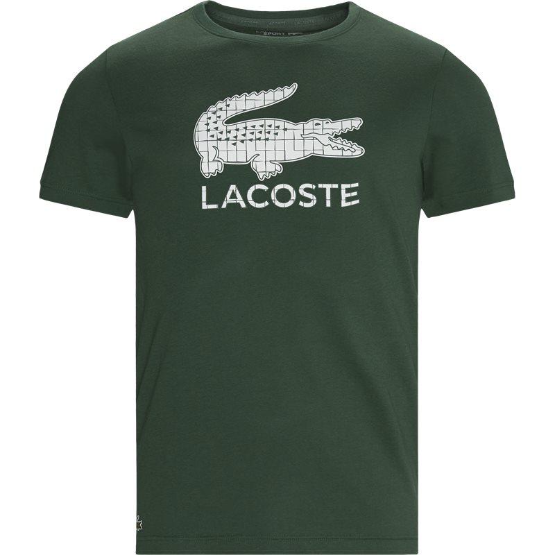 Køb Lacoste Crocodile Print Breathable Jersey T-shirt Grøn