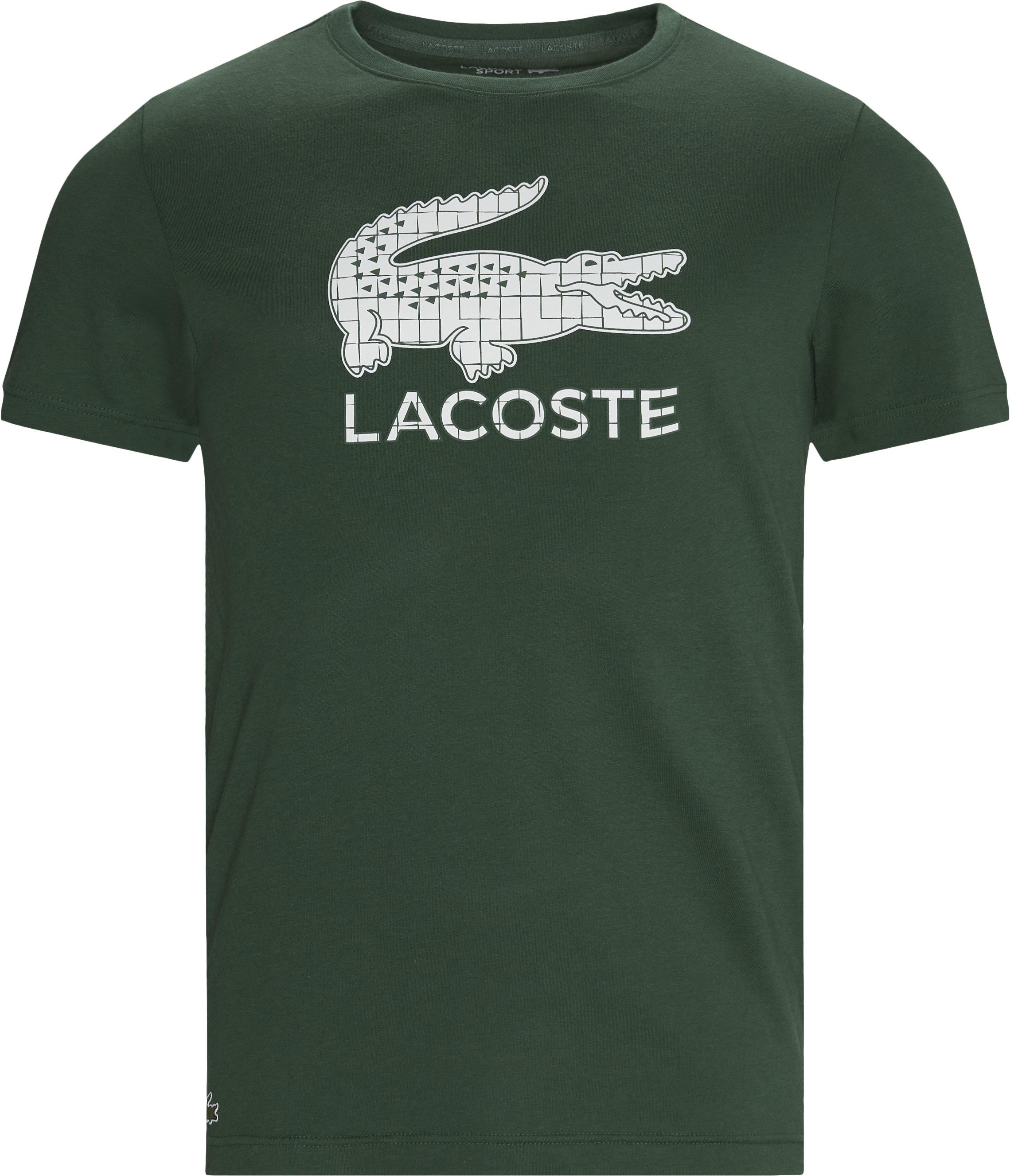 Crocodile Print Breathable Jersey T-shirt - T-shirts - Regular fit - Grøn