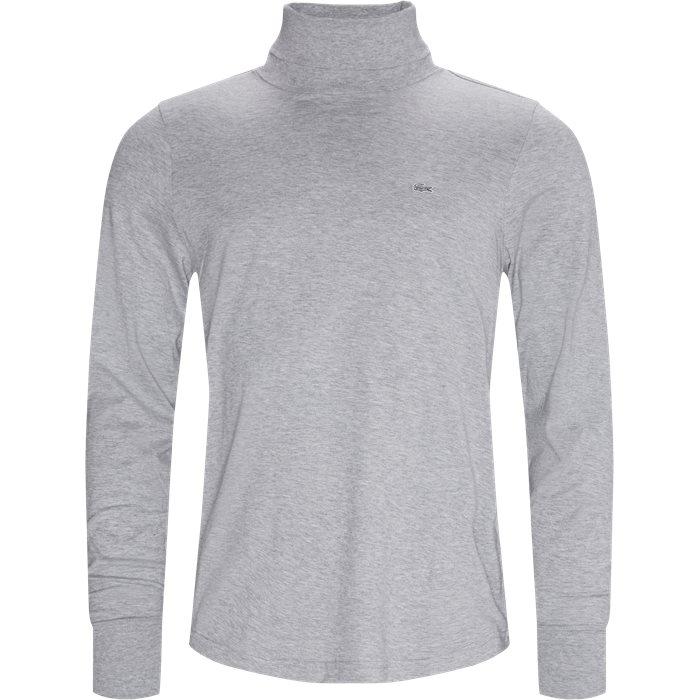 LS Turtleneck T-shirt - T-shirts - Modern fit - Grå