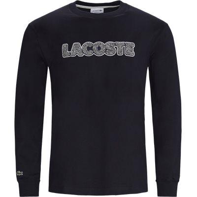 Badge Thick Cotton LS T-shirt Regular | Badge Thick Cotton LS T-shirt | Blå