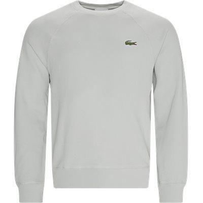 Organic Cotton Piqué Crew Neck Sweatshirt Regular | Organic Cotton Piqué Crew Neck Sweatshirt | Grå