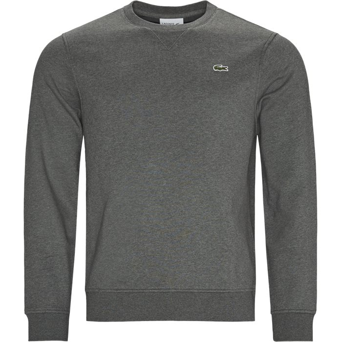 Cotton Blend Fleece Sweatshirt - Sweatshirts - Regular - Grå