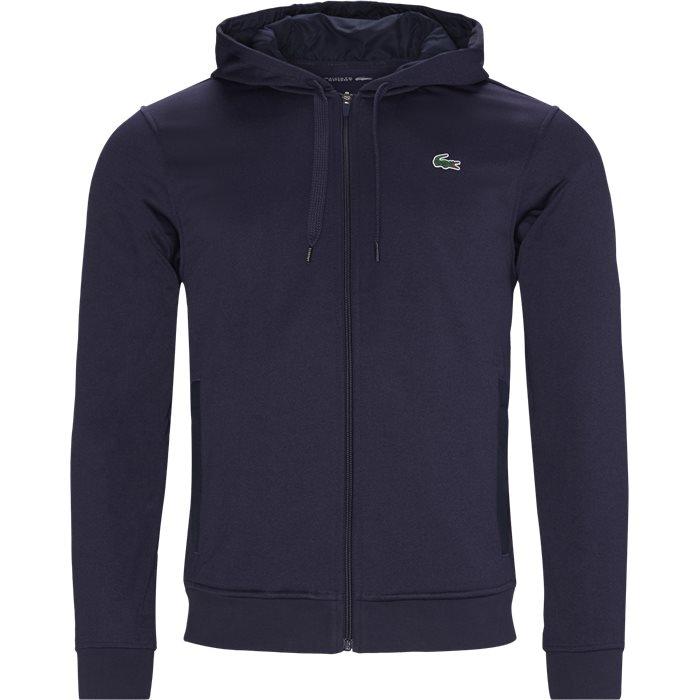 Logo Zip Sweatshirt - Sweatshirts - Regular - Blå