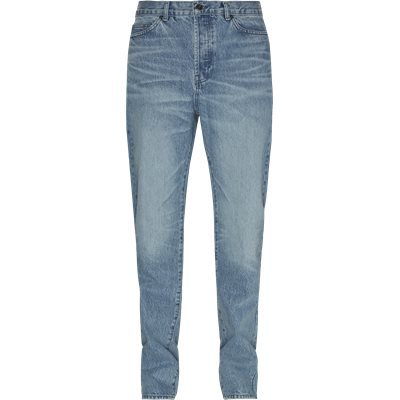 Five-Pocketed Faded Cotton Jeans Straight fit | Five-Pocketed Faded Cotton Jeans | Denim