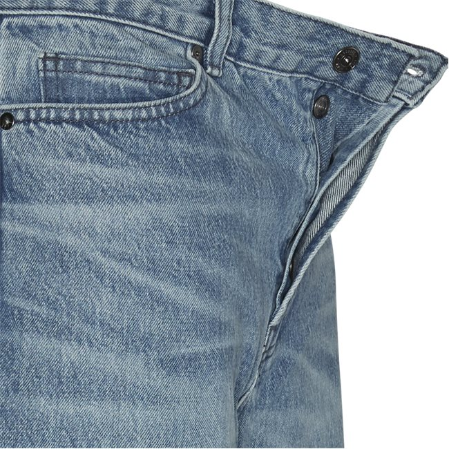 Five-Pocketed Faded Cotton Jeans