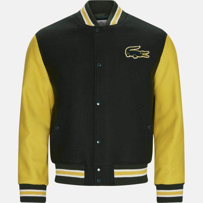 Two-Tone Wool Blend Bomber Jacket