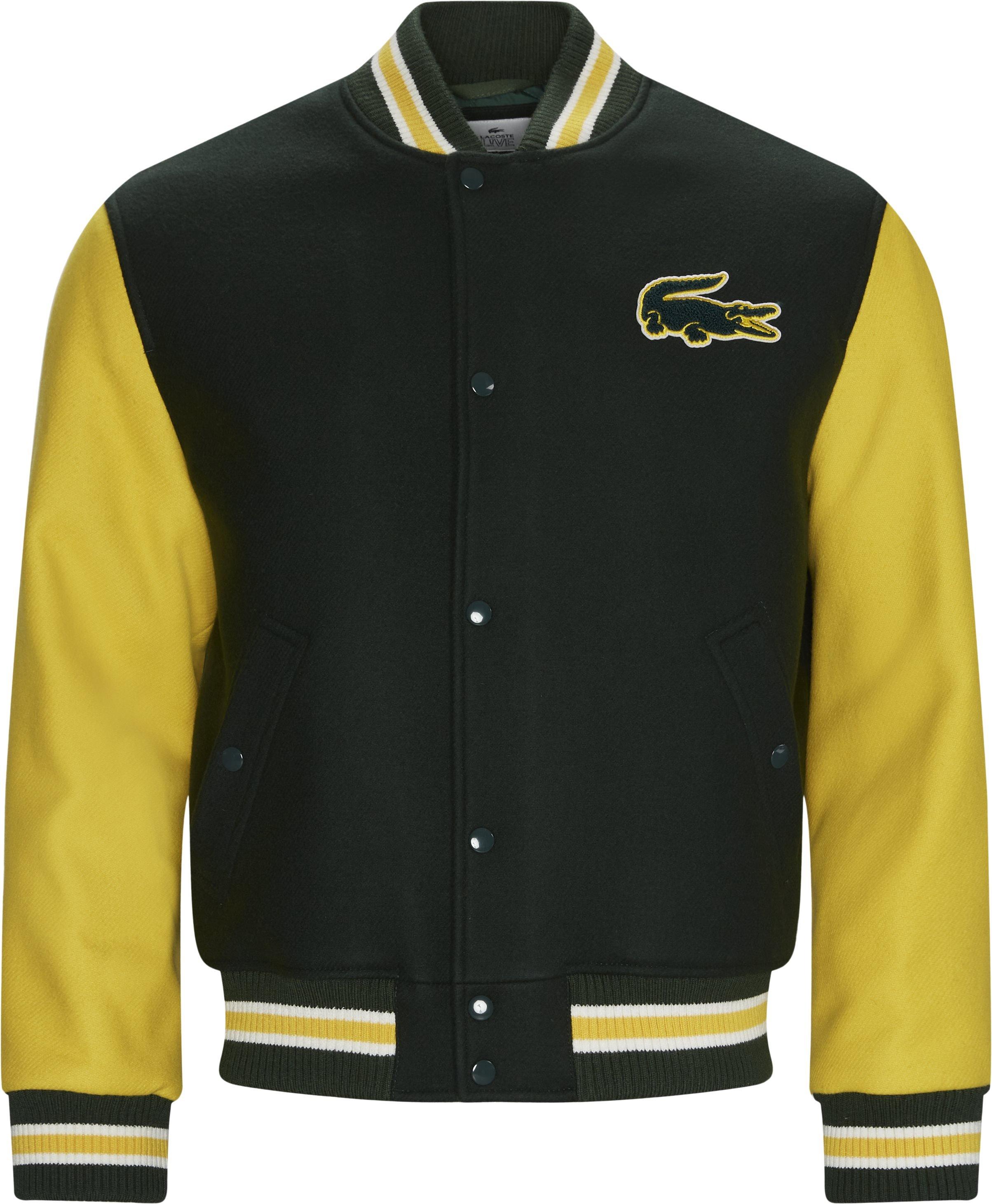Two-Tone Wool Blend Bomber Jacket - Jackor - Regular - Grön