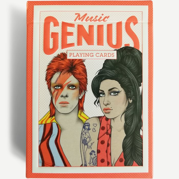 Music Genius Playing Cards - Accessories - Hvid